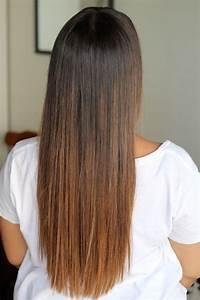 Ombré Hair Chatain : ombr hair sur cheveux chatain lisse ~ Nature-et-papiers.com Idées de Décoration