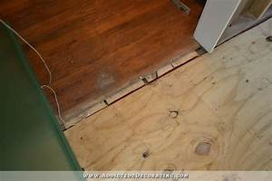 breakfast room progress plywood subfloor installed over With best floor leveler for plywood