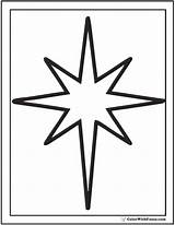 Star Coloring Christmas Pages Stars Outline Printable Print Pdf Simple Shape Colorwithfuzzy sketch template
