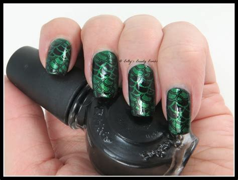 Ee  Dragon Scales Nail Art Lazy Betty Ee