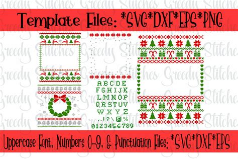 Cricut design space, and silhouette designer edition, make the cut (mtc), sure cuts a lot (scal), and brother scan and cut canvas software. Ugly Christmas Sweater Template Bundle SVG, DXF, EPS