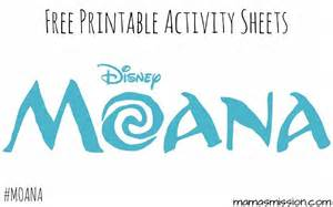 Moana Activity Pages Printable Free