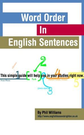 word order  english sentences  phil williams reviews