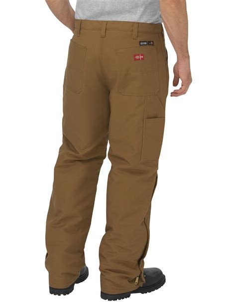 flame resistant relaxed fit straight leg insulated duck pants dickies