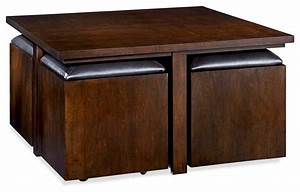 hammary cubics square coffee table with 4 stools rich With square coffee table with stools