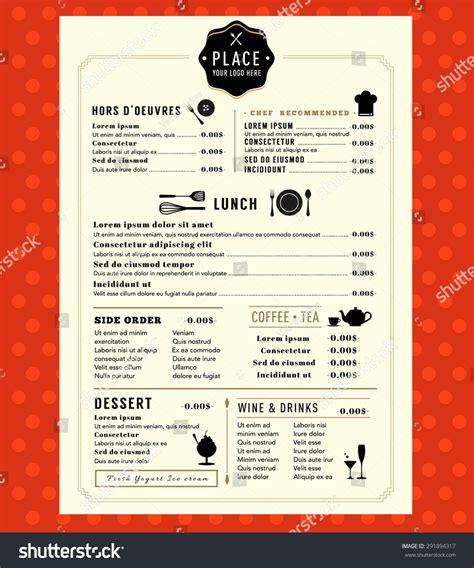 menu design logo restaurant cafe shop stock vector