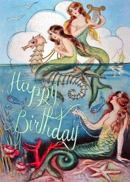 madame treacle mermaids birthday card mthb
