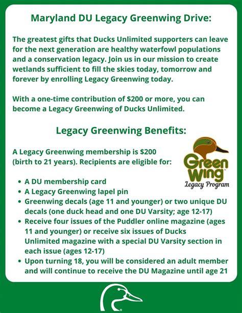 Maryland DU Legacy Greenwing Initiative