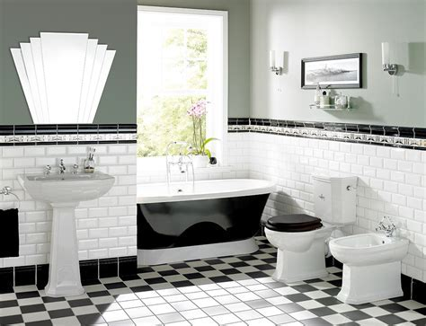 Black and White Brink Style Bathroom Tiles   Ream