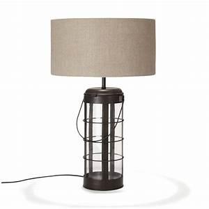 Alinea Luminaire Salon : lampe avec abat jour noir oxyd faraday les lampes poser luminaires salon et salle ~ Teatrodelosmanantiales.com Idées de Décoration