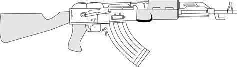 Ak 47 Clipart Weapon Clipart Ak 47 Pencil And In Color Weapon Clipart