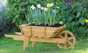 10 DIY Wooden Wheelbarrow Planter DIY to Make