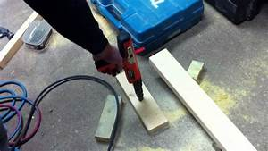 nail gun drives nails into concrete youtube With how to nail into concrete floor