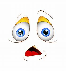 Cartoon Shocked Face Expression With Question Mark Sign ...