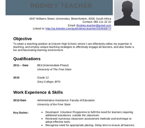sample teaching curriculum vitae templates