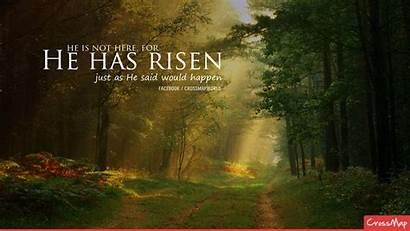 Risen He Easter Christ Wallpapers Backgrounds Church
