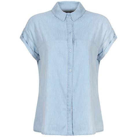 light blue sleeve shirt womens new womens light blue denim shirt button up cap