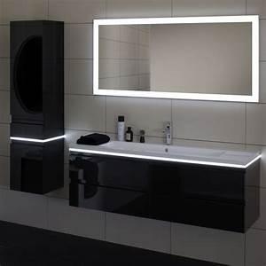 miroir mural contemporain rectangulaire lumineux With miroir mural lumineux