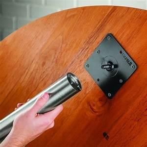 Nickel Adjustable Table Leg Set, Set of 4 Rockler