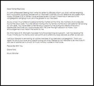 Musician Resume Template Church Resignation Letter Resignation Letters Livecareer