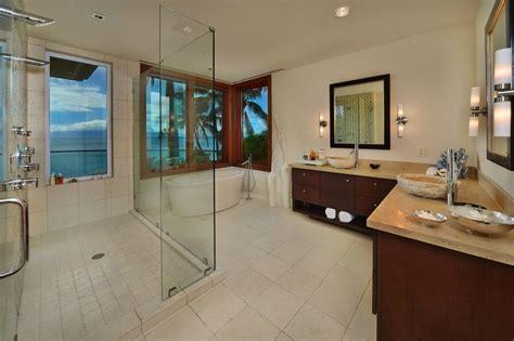 L Shaped Kitchen With Island Bench by Jewel Of Kahana House Beachside In Maui Hawaii