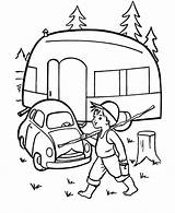 Camping Camper Coloring Pages Printable Caravan Printables Rv Sheets Embroidery Trailer Cars Kleurplaten Print Adult Preschool Colouring Campers Tent Trailers sketch template