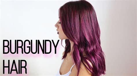 dark burgundy hair dye  home youtube