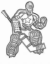 Hockey Coloring Player Pages Print sketch template