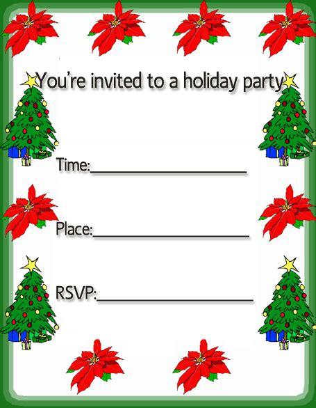 free christmas invitation cards free merry Christmas