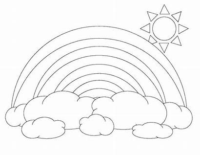 Rainbow Coloring Pages Unicorn Drawing Line Adults