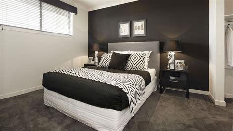 chambre noir et blanc design chambre noir blanc mur noir