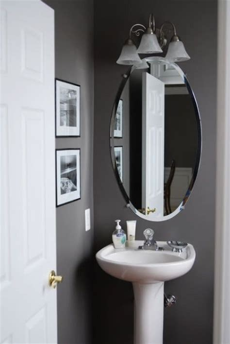 grey half bathroom decoration idea home