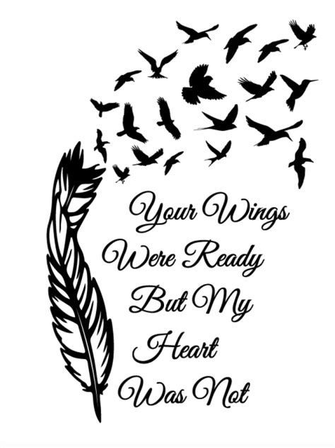 Your wings were ready | Silhouette tattoos, Remembrance