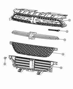 Dodge Dart Grille  Active Shutter   Front Fascias Parts