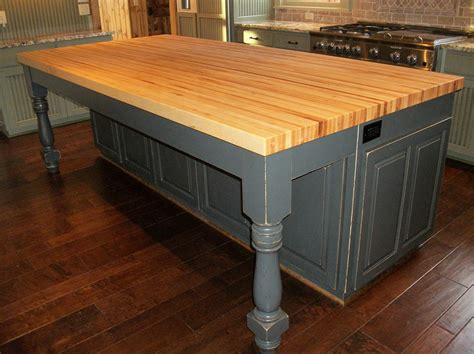 Borders Kitchen  Solid Hardwood Butcher Block Top Island