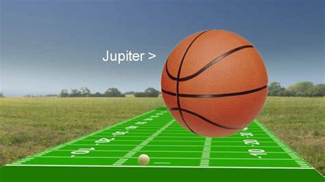scale   solar system earth jupiter sun  youtube