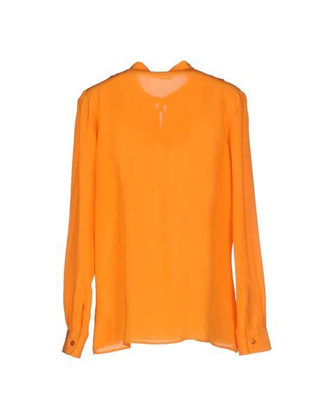 orange blouses boutique moschino blouse in orange lyst