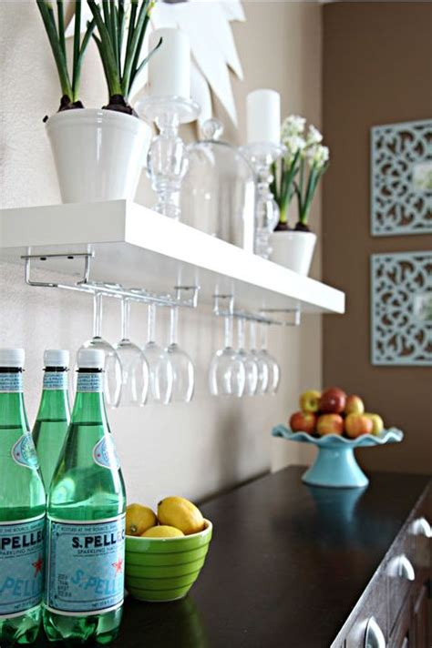 floating wine glass shelf ikea floating shelves with places to hold wine glasses 7241