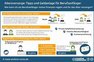 Altersvorsorge Berechnen : altersvorsorge f r berufsanf nger 9 tipps zur geldanlage ~ Themetempest.com Abrechnung