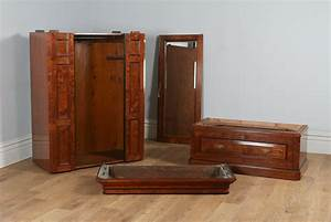 Victorian Gothic Pitch Pine Ebony Bedroom Suite