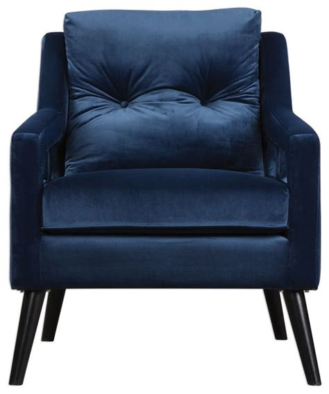 retro blue velvet arm chair vintage plush