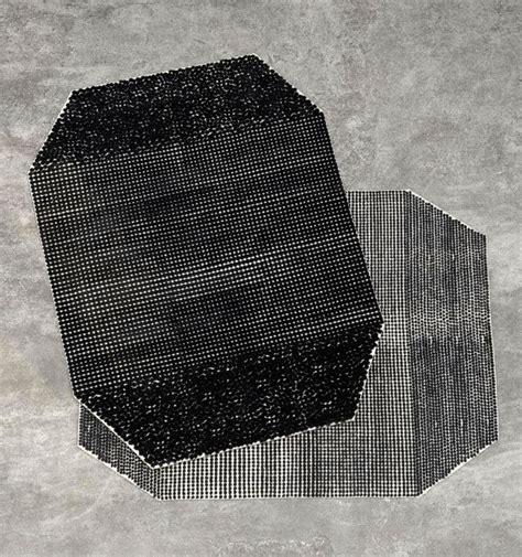 Black On White Semis Carpet by Bouroullec   InteriorZine