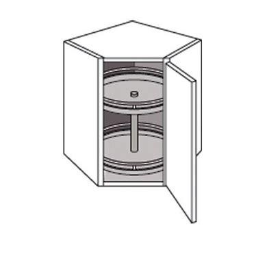 meuble d angle de cuisine meuble de cuisine haut d 39 angle avec 2 plateaux twist cuisine
