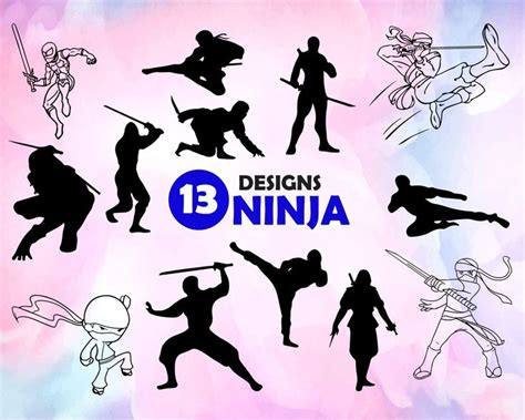 Ninja Svg Ninja Svg Bundle Ninja Svg File For Cricut