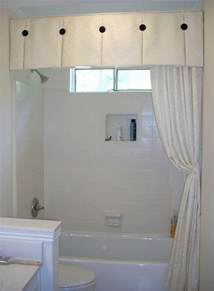 bathroom valance ideas windowtreatments box pleat valance with black accent buttons this is a great treatment for a