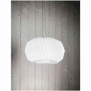 Lampadario Con Lampada A Sospensione In Acrilico Bianco D 45cm 6302b Illuminazione Moderna