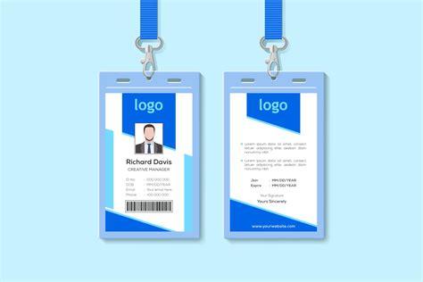 elegant id card design template creative card templates