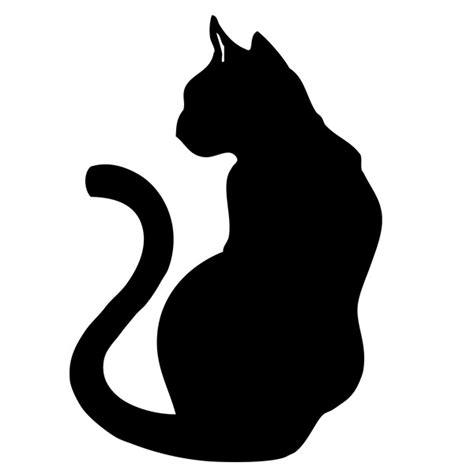 pochoir chat 2 noir et blanc chat noir dessin pochoir et chats
