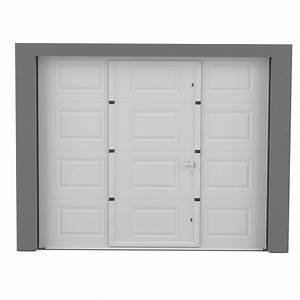 porte de garage sectionnelle motorisee artens essentiel With porte de garage enroulable avec leroy merlin porte pvc