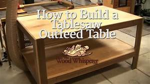 30 - How to Build a Tablesaw Outfeed Table - YouTube